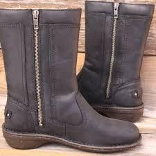 ugg s kaleen boot 39 ugg shoes ugg kaleen black leather sheepskin boots us 7