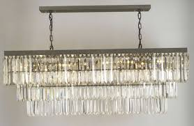 Rectangular Chandelier With Crystals Charming Rectangular Crystal Chandelier Also Diy Home Interior