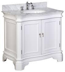 And White Single  Traditional Bathroom Vanities And Sink - Madara 36 inch single sink bathroom vanity