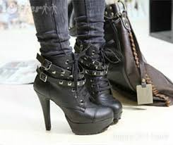 womens high heel boots australia yesstyle australia mancienne studded belted ankle boots free
