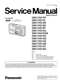 panasonic lumix dmc fx01 series service manual repair guide