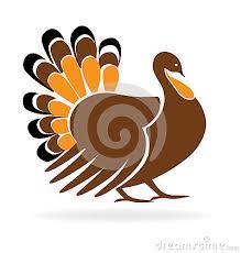 happy thanksgiving turkey symbol template icon logo vector