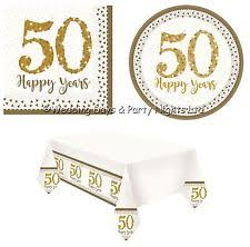 50th wedding anniversary plates golden wedding napkins celebrations occasions ebay