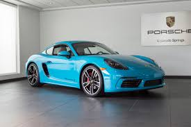 miami blue porsche boxster 2017 porsche cayman 718 s for sale in colorado springs co 17289