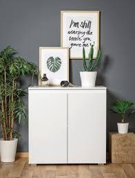 Wohnzimmerschrank Kolonial Kommode Imke 1 Weiß 80x80x40 Cm Sideboard Schrank