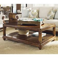 Tommy Bahama Leather Sofa by Tommy Bahama Landara Marianas Coffee Table Rich Tobacco Hayneedle