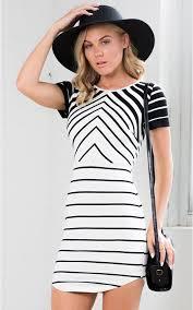 optical illusion dress optical illusion dress in white print showpo