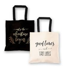 bridal party tote bags canvas tote bag bridal shower destination wedding