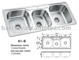 Bowl Kitchen Sinks Bowl Kitchen Sinks Sink Zitzat On Sich - Triple sink kitchen