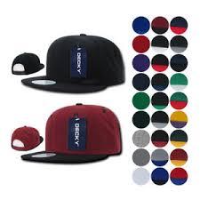 1 dozen blank flat bill snapback caps hats solid two tone decky