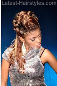 braided pin up hairstyle for black women two tone braid hairstyle side view black hair pinterest
