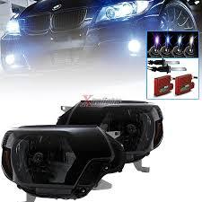 toyota tacoma hid fog lights 12 15 toyota tacoma oem style headlights black smoke pair