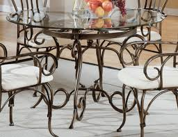 glass metal dining table awesome metal dining table for fancy dining space setups ruchi designs
