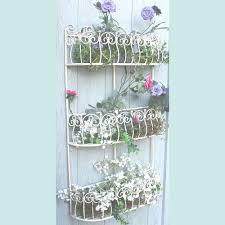 wall mounted planter scrolled 3 trough wall mounted planter u0026 pot holder