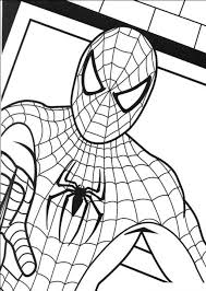 spiderman halloween coloring pages eson me