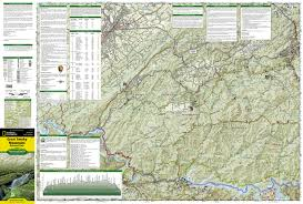 Big Sky Trail Map Great Smoky Mountains National Park National Geographic Trails