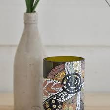 Upcycled Wine Bottles - batik hand painted upcycled wine bottle nvc foundation