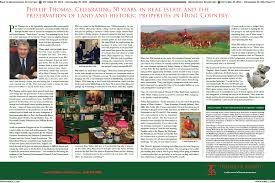 Phillip Thomas by Thomas Talbot Exclusive Real Estate Middleburg Virginia In The News