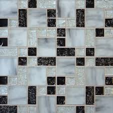 1 sf white marble crackle glass mosaic tile backsplash kitchen