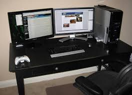 Computer Desk Setup Ideas Attractive Desk For Dual Monitor Setup Fantastic Home Office