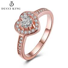 heart fashion rings images Heart shape crystal ring rose gold color loving heart rings micro jpg