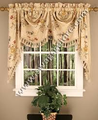 Swag Curtains With Valance Jewel Valance And Jewel Austrian Valance Swags Galore Kitchen