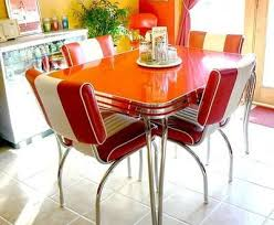 Retro Dining Table And Chairs Classic Chevy 50s Retro Dinette Set Intended For Retro Dinette