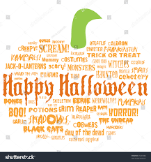 halloween background for poster for physician with green happy halloween other scary words shape stock illustration