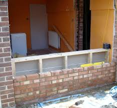 exterior appealing brick wall with garage conversion for exterior