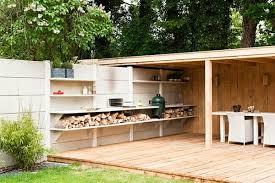 cuisine exterieure moderne 95 idées pour la clôture de jardin palissade mur et brise