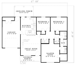 traditional style house plan 3 beds 1 50 baths 1075 sqft 450 sq ft