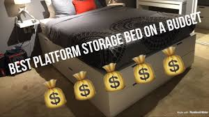 ikea hack platform bed with 12 drawers youtube