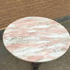 Marble Bistro Table Vintage Art Deco Round Pink Marble Café Table Cityfoundry