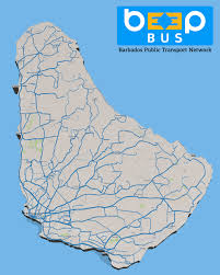 Spirit Route Map by Beepbus Bus Information For Barbados