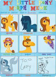 My Little Ponies Meme - my little pony morph meme artistic colors by hallyboo123 on deviantart