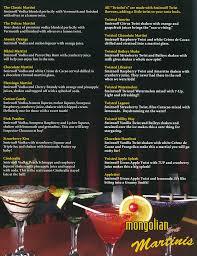 martini smirnoff menu u2014 mongolian grill whitby