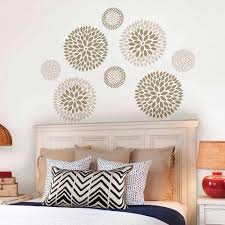 big wall decals for bedroom also spectacular ideas trends images big wall decals for bedroom trends also wallpops chrysanthemum art pictures