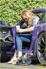 porsche purple caitlyn jenner runs some errands in her purple porsche photo