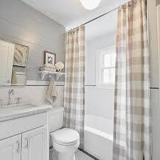 Gray And Tan Bathroom - buffalo check shower curtains country bathroom