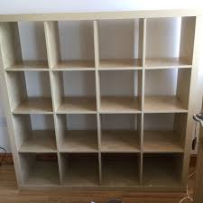 ikea kallax expedit storage unit shelves in beech in chester