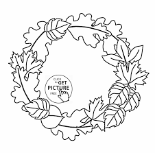 fall coloring pages printables printable coloring pages leaves coloring pages leaves fall wreath
