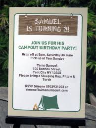 camping birthday party invitations party decorations