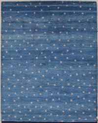 Blue Wool Rug Garuda Woven Art Natural Wool Area Rugs Contemporary Modern