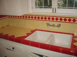 Tile Kitchen Countertops Ideas Red And Yellow La Deco Kitchen Countertop By Misscandydarling Via