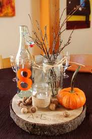 fall centerpieces diy fall themed centerpieces from allison eric s offbeat rustic