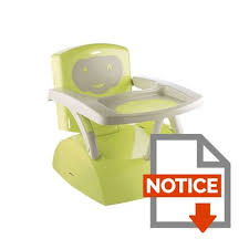 rehausseur de chaise thermobaby thermobaby réhausseur de chaise babytop vert vert et gris achat