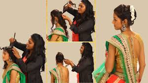 indian wedding hairstyles for medium length hair indian simple hairstyles for wedding to do yourself twist and flip