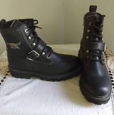 s harley boots size 11 harley davidson buckle boots for ebay
