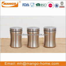 kitchen sealed tea coffee sugar stainless steel food storage