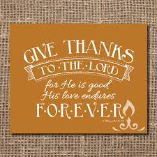 scripture print give thanks to the lord by llightsprints